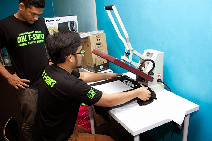 heat press printing ohtshirt